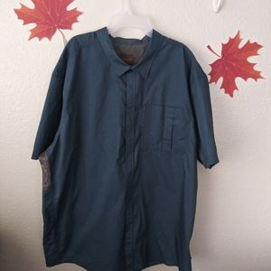 Northwest Territories men's short sleeve dress shi
